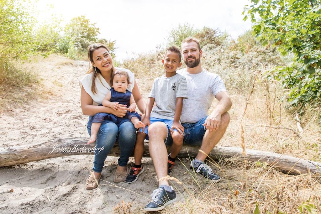 Familie fotoshoot in Duinen van Rockanje